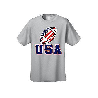 USA flagg T skjorte fotball stolthet menn ' s kort ermet