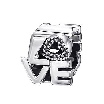 L'amour de cœur - en argent Sterling 925 perles Plain - W6017X