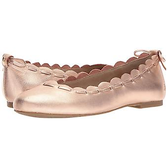 Jack Rogers Womens Lucie Leather Round Toe Ballet Flats