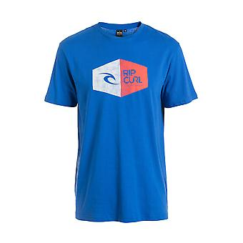 Rip Curl 3D Icon korte mouw T-shirt in College blauw