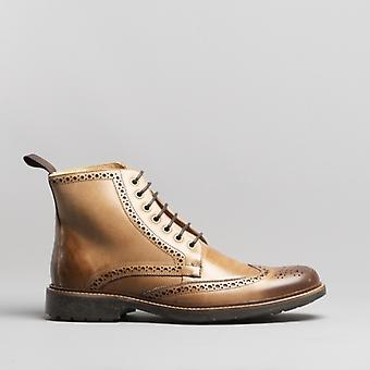 Anatomic & Co. Antonio Mens Leather Ankle Boots Bronze/foxy