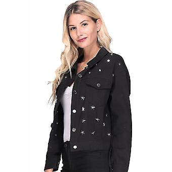 Attitude Clothing Star Stud Jacket