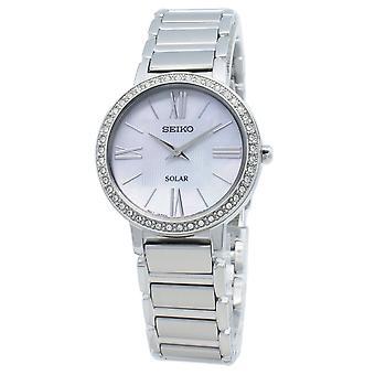 Seiko Solar SUP431 SUP431P1 SUP431P Diamond Accents Mujer's Reloj