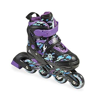 Byox Inliner Kids and Roller skates 2 in 1 Zax Purple Size S 30 - 33, ABEC-7 Bearings