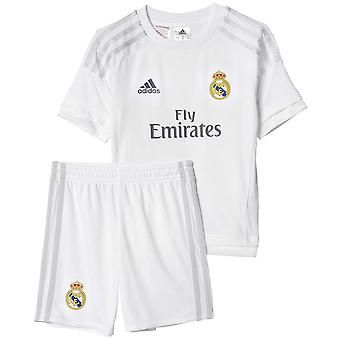adidas Performance Boys Kids Real Madrid Home Football Mini Kit - White - 5TO6Y