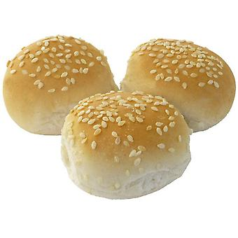 Barkers Frozen Mini Sesame Seed Topped Burger Buns 2inch/5cm