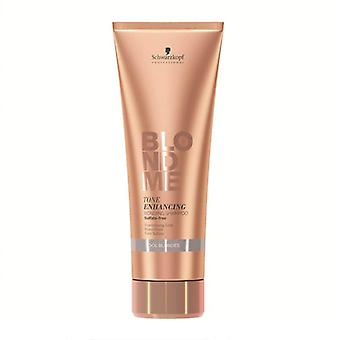Schwarzkopf blondme tom realçando shampoo de ligação 250ml