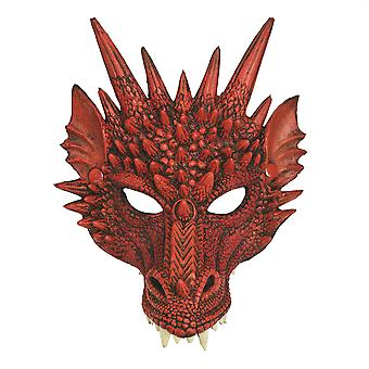 龙面具红色
