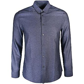 Paul Smith PS By Paul Smith Blue Flecked Slim Shirt