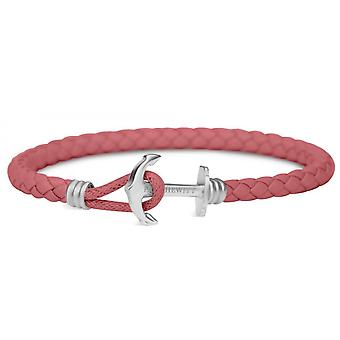 Bracelet Paul Hewitt jewelry PH-PHL-L-S-RB - raspberry mixed Leather Bracelet