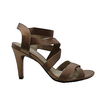 Rialto Womens Roselle Leather Peep Toe Casual Ankle Strap Sandals