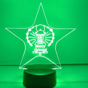 Weihnachten Laterne Sterne Farbwechsel LED Acryl Licht