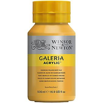 Winsor et Newton Galeria Acrylic Paint 500ml - Cadmium Yellow Deep Hue
