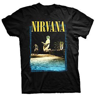 Nirvana Guitar LEAP Kurt Cobain i Utero rock officiella T-shirt
