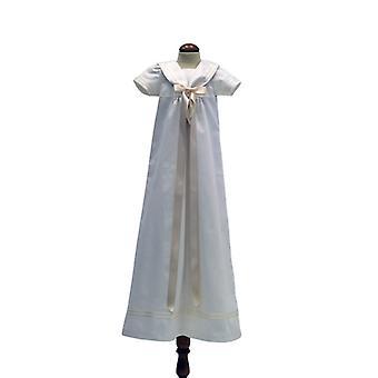 Dopklänning Grace Of Sweden - Sjömansklänning Med Off White Rosett