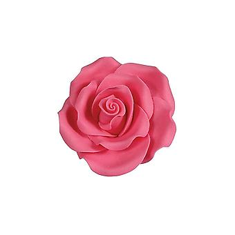 SugarSoft syötävä kukka-ruusu kirkkaan vaaleanpunainen 63mm-laatikko 8