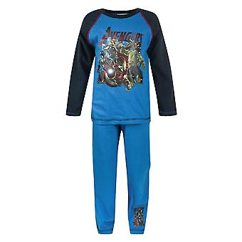 Avengers Age Of Ultron Into Battle Boy's Kids Blue Pyjamas Nightwear Set