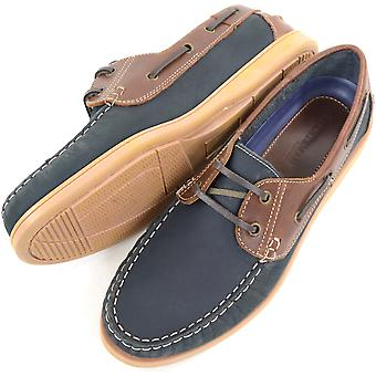 Herren Leder Casual / formale / Slip-On Boot Urlaub / Deck Loafer Lace Up Schuhe - Khaki - UK 8