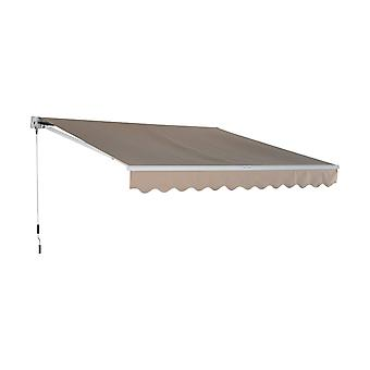 Outsunny 3W x 2.5D m Awning Door Canopy Shelter Front Back Outdoor Rain Shade Cover