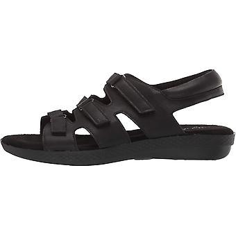 Easy Street kvinnors Rae casual sandal med krok och slinga stängningar Flat