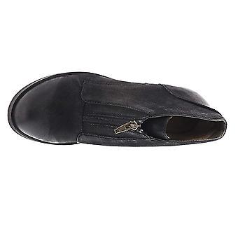 صفيف النساء لونا الجلود مغلقة الأحذية أزياء الكاحل القدم