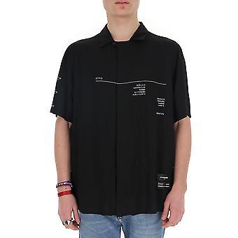 Marcelo Burlon Cmga052r20fab0031001 Men's Black Viscose Shirt
