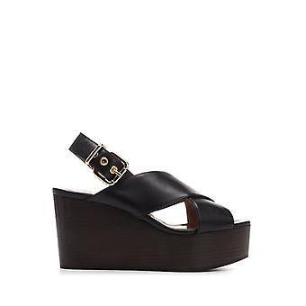 Marni Zpms004208p286200n99 Women's Black Leather Sandals