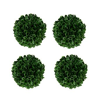 Green Artificial Boxwood Ball Centerpiece Vase Filler Set of 4