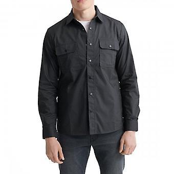 Superdry Überschuss Arbeiter L/S Shirt dunkel Olivgrün 3KY