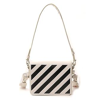Off-white Owna011r204230690210 Women's White/black Leather Shoulder Bag