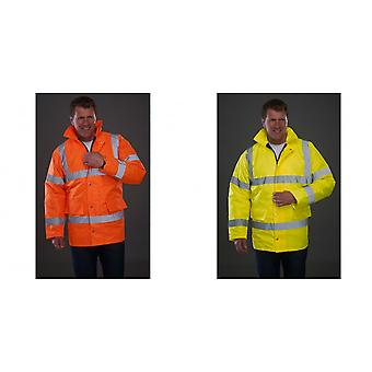 Grafters Unisex Safety Hi-Visibility Waterproof Motorway Jacket