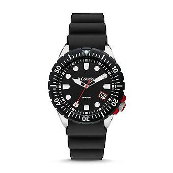 Columbia CSC04-001 Mens Pacific Outlander Black Silicone Wristwatch