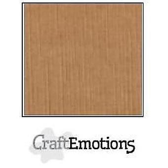 CraftEmotions linho de papelão 10 Sh mocha 27x13,5cm 250gr / LHC-28