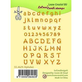 LeCrea - Clear stamp Alphabet & numbers 55.4629