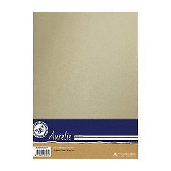 Aurelie Vintage Metallinen Cardstock Ivory