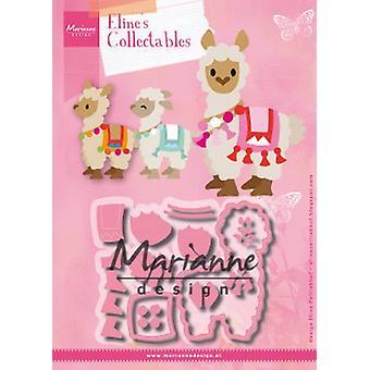 Marianne Design Collectables Cutting Dies - Eline's Alpaca Col1470 98x77mm