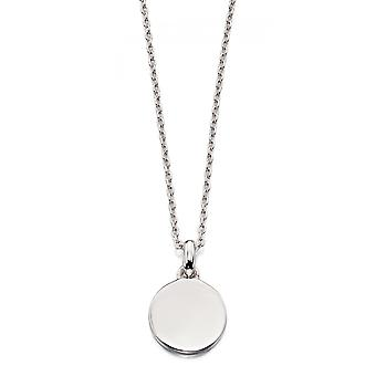 Little Star Milla Zilveren Disc Ketting