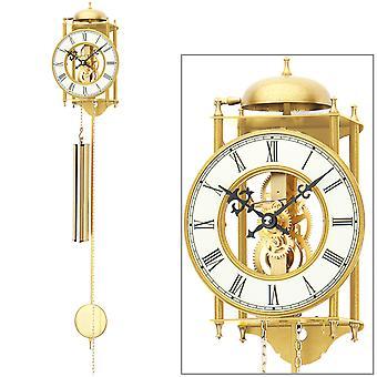 AMS 303 wall clock with pendulum mechanical gold metal pendulum clock skeleton clock