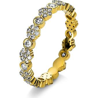 Diamond Ring Ring - 18K 750/- Yellow Gold - 0.66 ct. - 1R388G853 - Ring width: 53