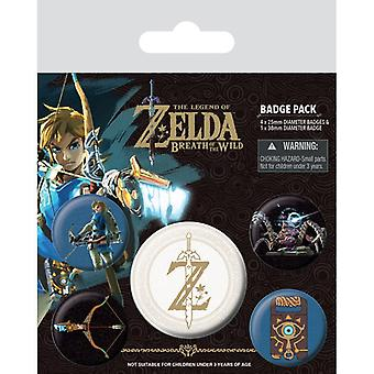 Zelda Breath Of The Wild Z Emblem Pin Button Badges Set