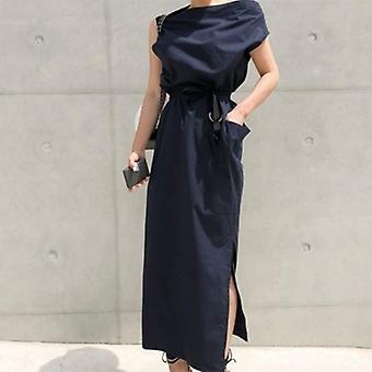 High Waist Side Split Long Dress