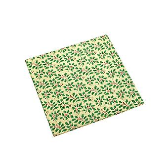 Culpitt 10-quot; (254mm) Christmas Double Solid Square Cake Card