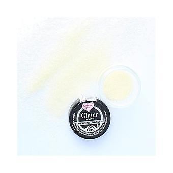 Rainbow Dust Edible Glitter - Wit - 5g - Losse Pot