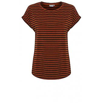 b.young Copper Striped Jersey T-Shirt