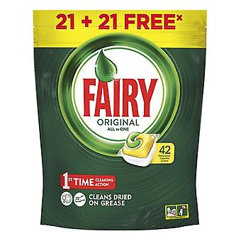 Dishwasher lozenges Lemon Fairy (42 uds)