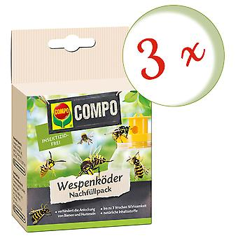 Sparset: 3 x COMPO Wasp Feller Agn Refill Pack, 3 Stk