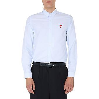 Ami A20hc013401406 Männer's hellblaue Baumwollshirt