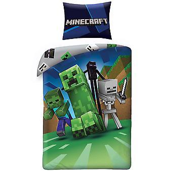 Minecraft Enderman Single Cotton Duvet Cover Set - Tamaño europeo