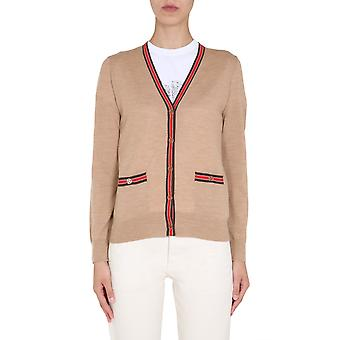 Tory Burch 57330254 Dames's Beige Wool Cardigan