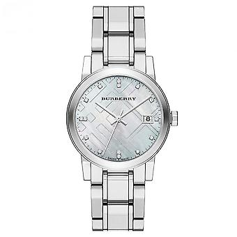 Burberry BU9125 die Stadt Silber Zifferblatt Silber Metall Armband Frauen's Uhr